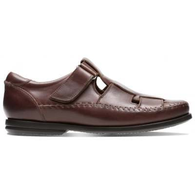 *ausverkauf* Clarks Un Gala -riemen, Herren Geschlossene Ledersandalen Kunden Zuerst