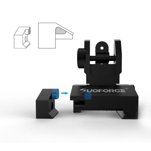 QD Flip up Front Rear Ion Sight Set Rapid Transaction A2 Mil Spec Low Profile