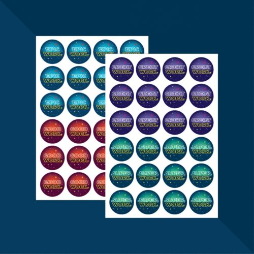 Space-themed Praise Stickers x 48 //// Teacher Stickers