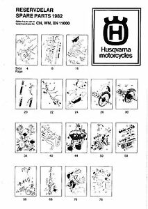 husqvarna parts manual book 1982 wr 250 cr 250 xc 250 ebay rh ebay ie husqvarna 250 wr 1996 manual 2002 husqvarna wr 250 manual