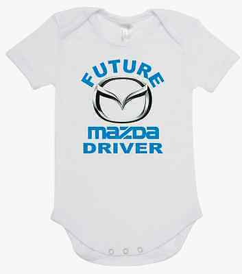 BABY ONE PIECE, ROMPER. ONESIE. printed with FUTURE MAZDA DRIVER quality onesie