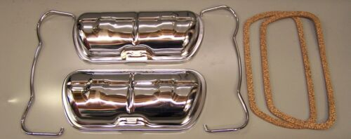 T2 /& T 25 water cooled Rocker covers /& clips in Chrome with gaskets VW Beetle