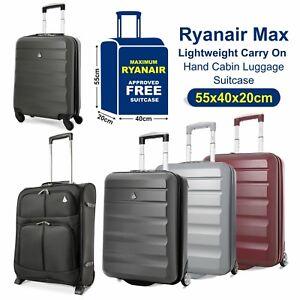aerolite ryanair max leicht fortf hren hand handgep ck koffer 55x40x20 ebay. Black Bedroom Furniture Sets. Home Design Ideas