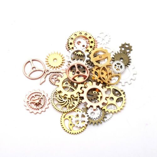 50//100g Metal Gears Cogs for Crafting Steampunk Jewelry /& Altered Art Mix Colour