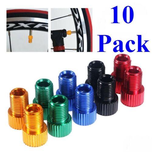 10 Pack Presta to Schrader Valve Stem Adapter Converter Bicycle Bike Tire Tube