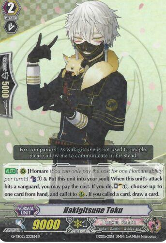 NAKIGITSUNE TOKU G-TB02//022EN R RARE CARDFIGHT VANGUARD CARD