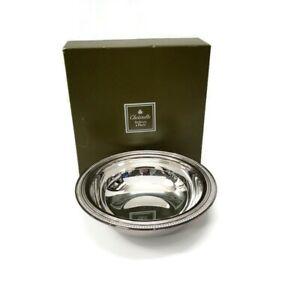 Vintage-Christofle-France-Silver-Plated-Finger-Dessert-Sugar-Bowl-Beaded-Edge