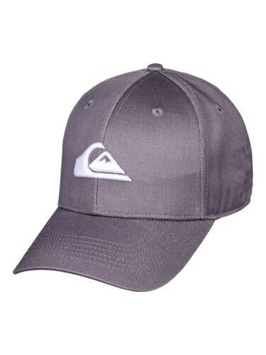 QUIKSILVER MENS BASEBALL CAP.NEW DECADES GREY CURVED PEAK SNAPBACK HAT 9W 2 KZEO