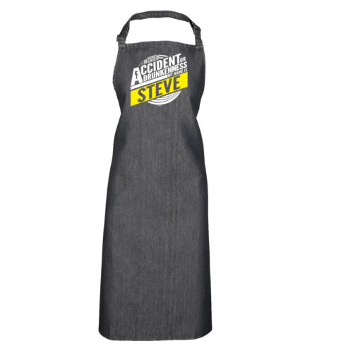 Funny Novelty Apron Kitchen Cooking Steve In Case Of Accident Or Drunkenness