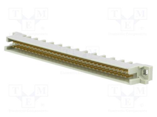 1 piezas Zócalo DIN 41612 tipo B macho Pin B THT Recto 64 A