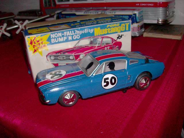 MUSTANG 1967 GT TAIYO VINTAGE JAPAN TIN RACER BATTERY BATTERY BATTERY OP W  ORIG BOX EXCELLENT 3f78d5