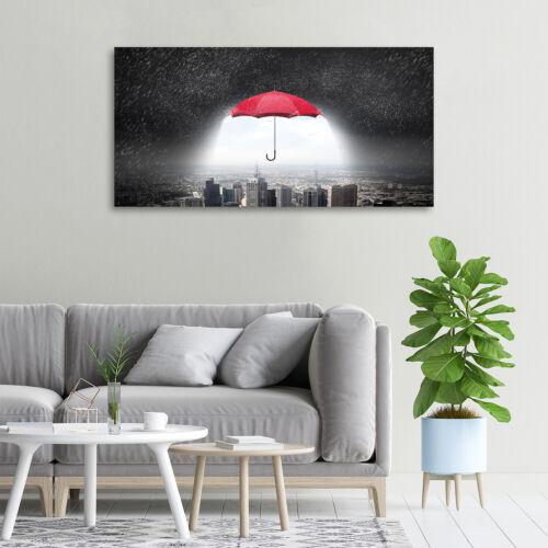 Wandbild aus Plexiglas® Druck auf Acryl 100x50 Regenschirm Stadt