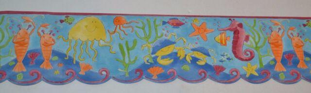 Norwall KIDS ROOM UNDER THE SEA OCEAN LIFE Prepasted Wallpaper Border 5 Yds