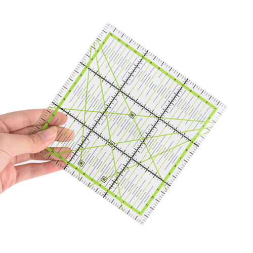 15*15cm clear quilting sewing patchwork ruler cutting tool tailor  ha