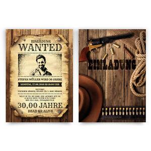 Einladungskarten-zum-Geburtstag-als-Wanted-Poster-mit-Foto-Western-Kopfgeld