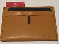 Tumi Men's Yellow Mustard Leather Passcase Id Credit Card Slot Holder Wallet