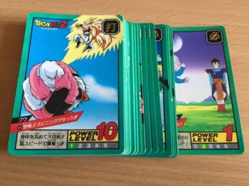 Carte Dragon Ball Z DBZ Super Battle Part 12 #Reg Set BANDAI 1995 MADE IN JAPAN
