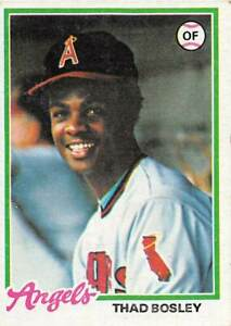 trading card Topps ANGELS  1978 THAD BOSLEY #619