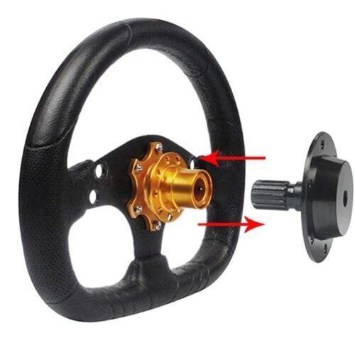 Universal Car Steering Wheel Quick Release HUB Racing Adapter Snap Off Boss Kit