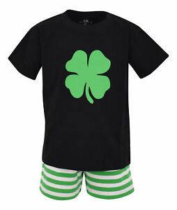 Boys-2-Piece-ST-Patricks-Day-Clover-Outfit-2t-3t-4t-5-6-7-8-Toddler-Kids-Clothes