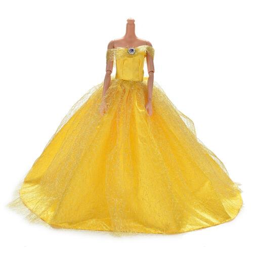 Hochzeitskleid für s Puppe Schöne Trailing Rock Brautkl CJ