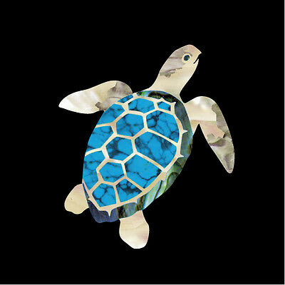 Sea Turtle Honu Inlay Sticker Ukulele Nature Decal