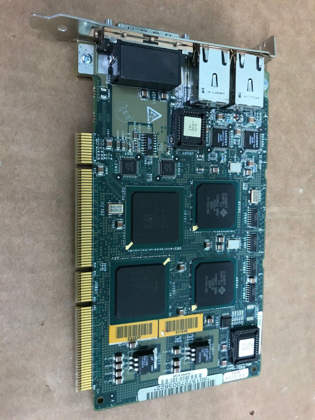 Sun Microsystems Dual Gigabit Ethernet SCSI Network Adapter Card 501-5727