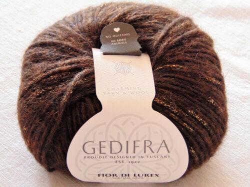 Fior di Lurex GEDIFRA 50g Baby Alpaca Garn Wolle