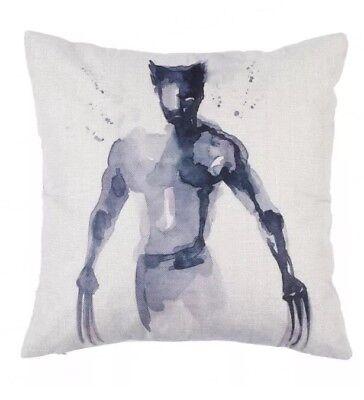 Color de Agua Pintura Caligrafía Iron Man Marvel Cojín Funda Almohada Lino