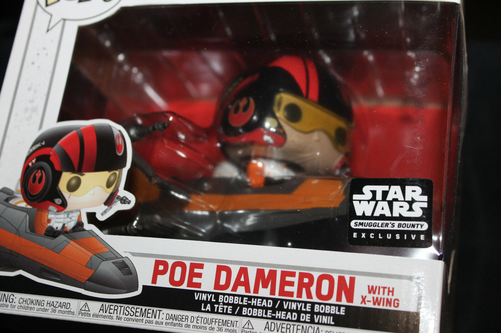 Funko Pop  Vinyl Figure - Star Wars Poe w  X-Wing - SWSB Exclusive