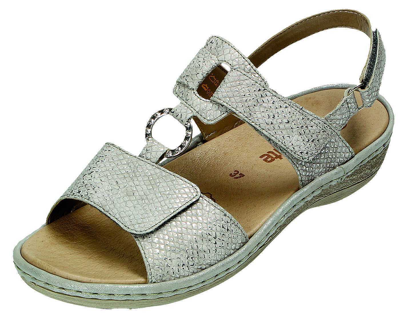 Remonte Sandalen Sandaletten Damenschuhe silber Gr.36-42 D7648-90 Neu30