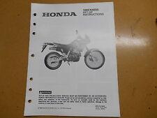 honda nx650 service repair manual 1988 1989