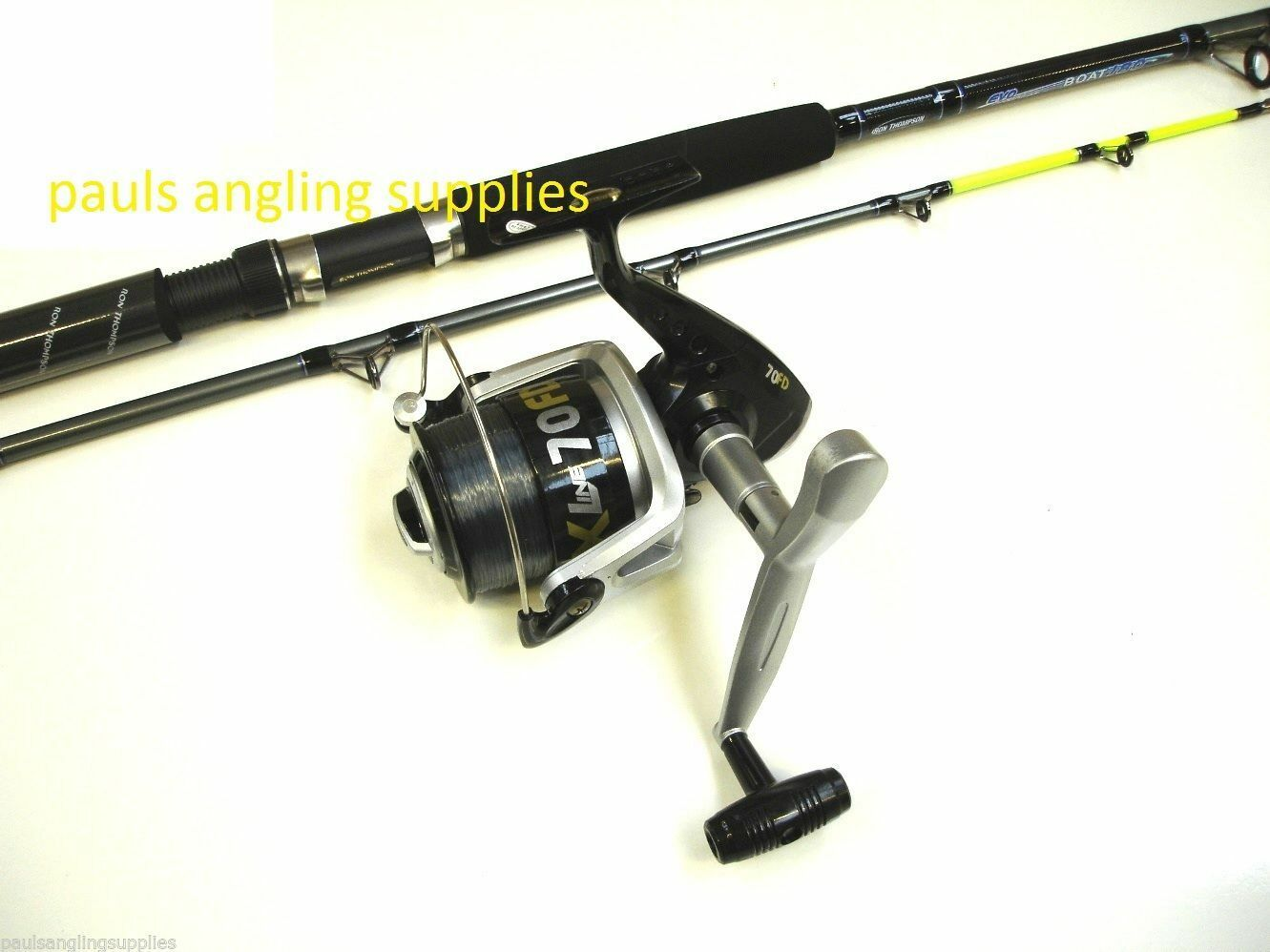 6 ft Boat Fishing Rod & Vigor SX070 Reel + Line