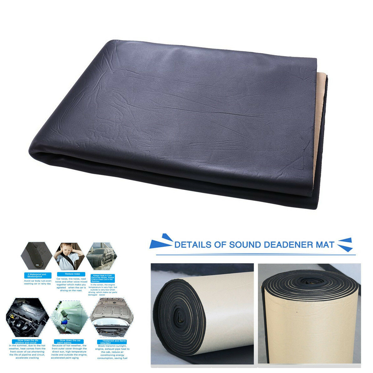 Car Foam Flat Panel Studio Soundproofing Wall Panel Sound Control Mat  Waterproof