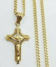 10k Yellow Gold Crucifix Charm Pendant Religious