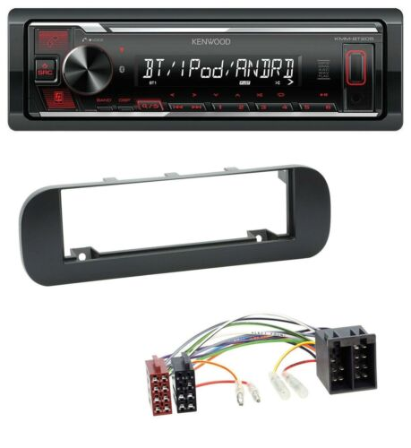 schwarz Kenwood USB Bluetooth MP3 AUX Autoradio für Fiat Panda ab 2012