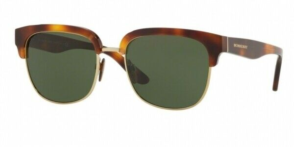 92def87b7c70 BURBERRY CLUBMASTER HAVANA TORT GOLD GREEN LENS SUNGLASSES BE4272 331671  NEW 53