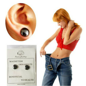 weight loss earrings slimming stud earring bio magnetic health care earring ebay. Black Bedroom Furniture Sets. Home Design Ideas