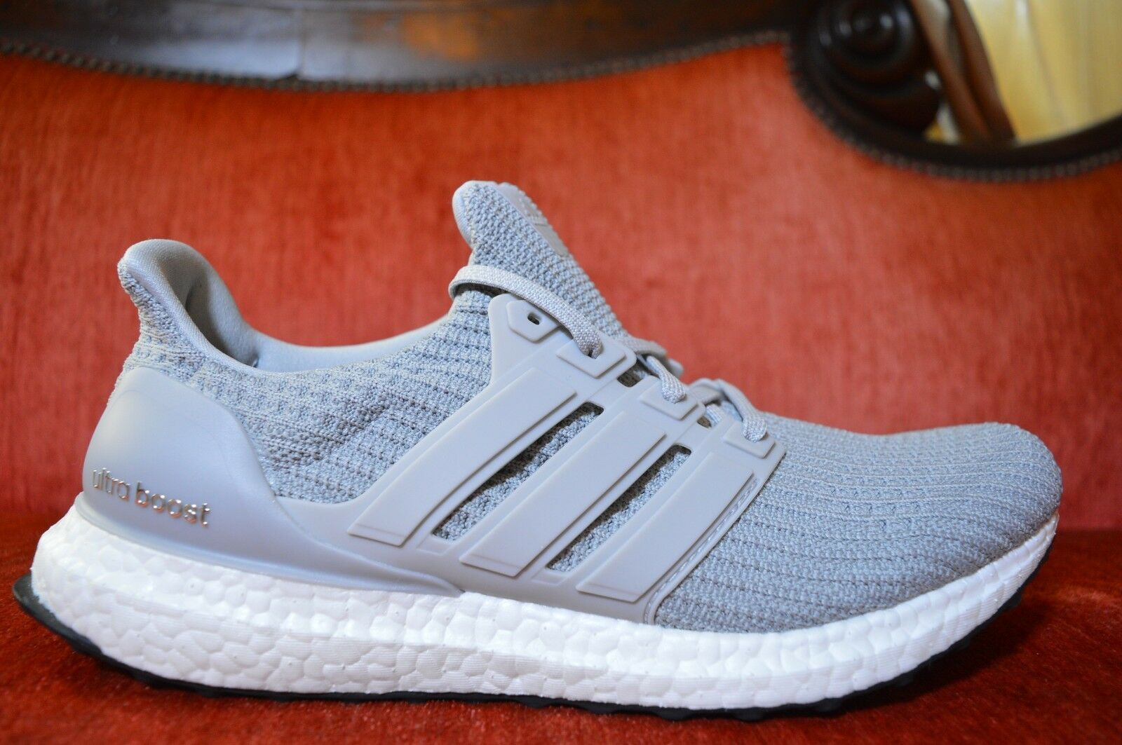 NEW Adidas UltraBoost Grey White Gray BB6167 Shoe Trainers Size 9