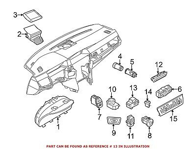 For BMW Genuine Electronic Parking Brake Control Switch 61316822519