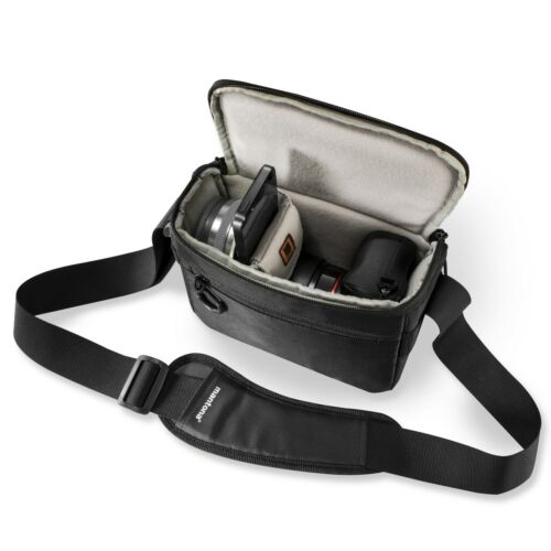 mantona Irit Systemkameratasche schwarz für Systemkameras mit Pancake Objektiv