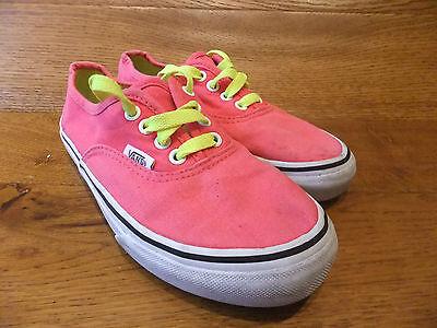 Niños Vans Auténticas Rosa vivos Lona Zapatillas Informales Zapatos UK 13K 31 euros