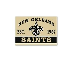 New-Orleans-Saints-Foto-Magnet-mit-Logo-NFL-Football-Team-Gruendungsjahr
