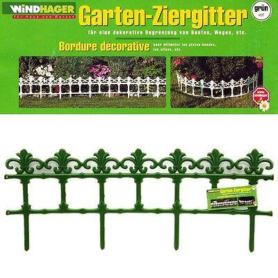 Beetbegrenzung Ziergitter Beetumrandung weiß oder grün Garten Zaun Windhager 024