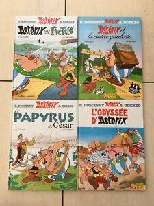 Lot-de-4-Album-BD-d-039-Asterix-et-Obelix-Numero-26-32-35-36