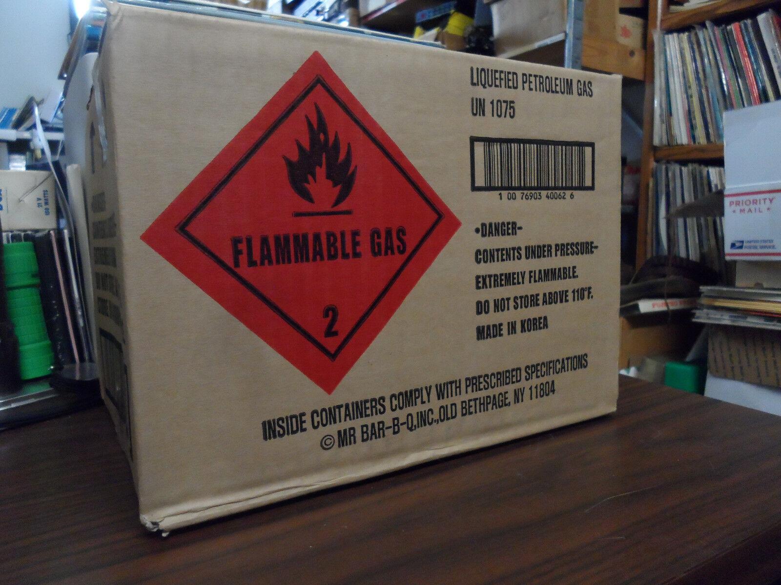 NIB Mr. Bar-B-Q (8 oz.) Butane Fuel  For Portable Gas Stove Cans  customers first