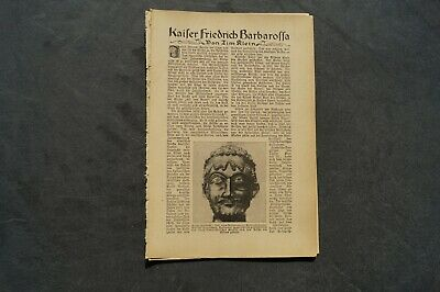 1922 Fachbericht Vh / Friedrich Barbarossa Kaiser