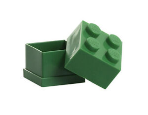 LEGO Storage MINI Snackbox 4 GRÜN perfeckt in Brotdose Schule Lunchbox GREEN NEU