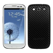 kwmobile Carbon Back Cover Case für Samsung Galaxy S3 S3 Neo Hülle Schwarz Akku