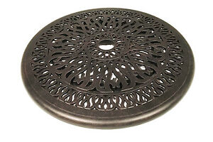 Cast-Aluminum-Elisabeth-Lazy-Susan-24-Turntable-Kitchen-Dining-Bar-Patio-Bronze